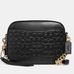 Coach Camera Bag Sig.Embossed Leather